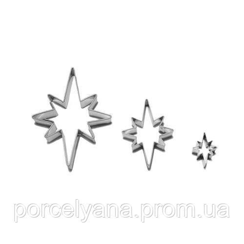 Формы для вырубки выкладки Звезды 3 шт Smolik