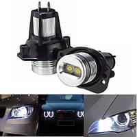 Пара белого глаза ангела LED гало кольцо производитель 6W лампочка для BMW E90 E91