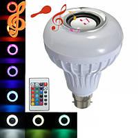 12w b22 LED Bluetooth динамик RGB лампа беспроводная музыка играет свет лампы с пультом дистанционного управления