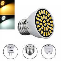 MR16/E27/GU10 LED Лампа 24 SMD 5733 480LM Чистая белая теплая белая лампочка с лампой Light 4.8W AC220V
