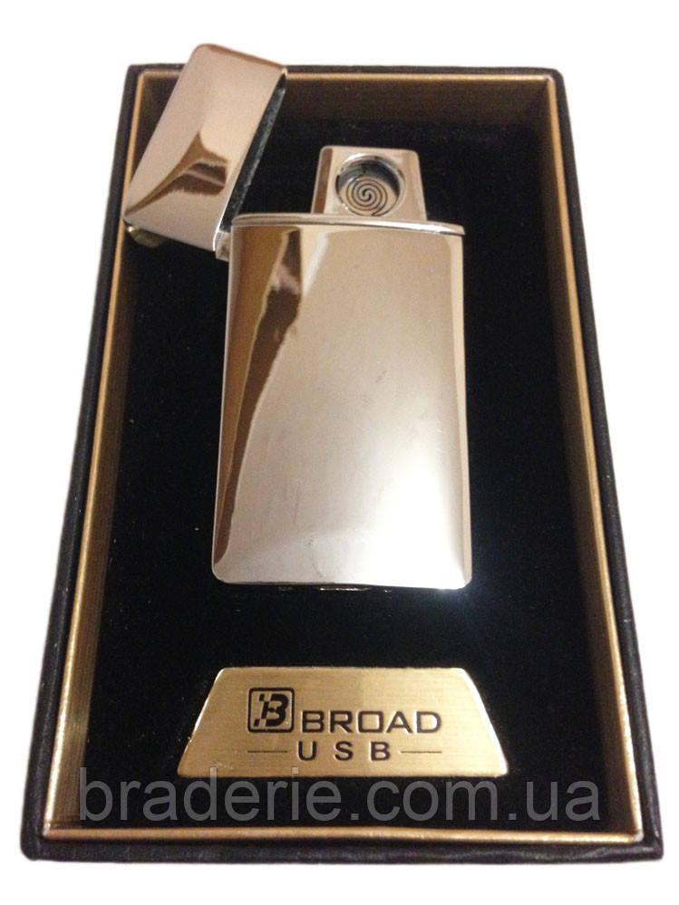 Зажигалка USB Broad 4851 двухсторонняя спираль
