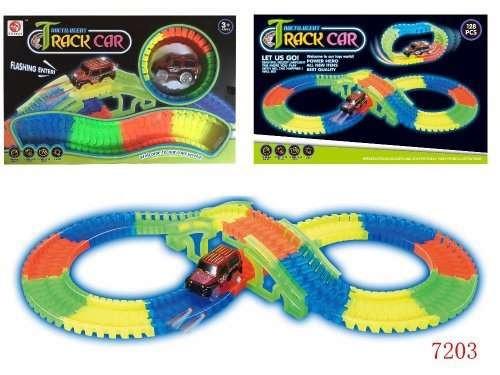 Детский гоночный трек 7203 Track car с мостом (аналог Magic Tracks)