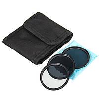 52 мм nd фильтр нейтральной плотности набор nd4 nd8 nd2 для Canon Nikon DSLR линзы