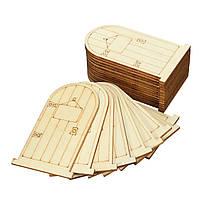 25pcs лазерной резки деревянные двери фе неокрашенный с пятнистым поделок судов