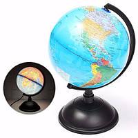 20 см LED глобус Земли Теллурий Атлас карта мира вращающийся стенд географии образования