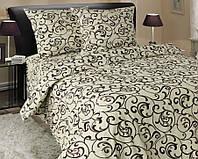 Евро комплект постельного белья из бязи хлопок 100% Комфорт Текстиль простыня на резинке