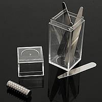 10set магнитного металла воротник остается кости с магнитом и коробкой