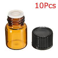 10pcs 2мл стеклянная бутылка янтарного капельница для эфирных масел для ароматерапии ремесел