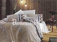 Двуспальный евро комплект постельного белья нежный