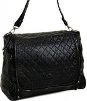 Модная стеганая сумка со съемной ручкой  и регулируемым плечевым ремнем Polianna черный 062 black