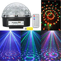 Магический шар USB Bluetooth mp3 RGB LED свет этапа сцена рождества КТВ лампа диско-проектор