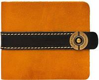 Интересное коричнево-рыжее кожаное портмоне  ручной работы Gato Negro Рыжий GN101 Zeta-Clip Orange