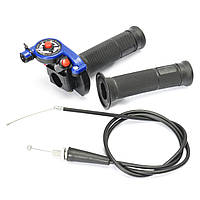 22mm 7/8 дюймов Twist Throttle With Cable Blue 125cc 140cc 150c Pit Bike