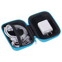 Универсальный PU кожа Power Bank Наушник Гарнитура USB-кабель Цифровые аксессуары Хранение Сумка