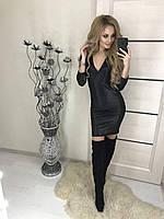Новогоднее женское платье черное с люрексом !, фото 1