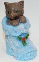 Мыло ручной работы Котенок в вязаном носочке
