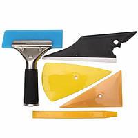 5pcs комплект автомобильных стёкл и упаковка инструменты комплект контур швабры