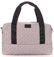 8413eb60fec7 Poolparty Вместительная стеганая дутая серая женская сумка