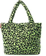 7f755c921333 Poolparty Женская стеганая черная дутая сумка с зелеными кроликами