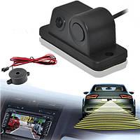 Датчик парковки зуммер 170 градусов зрения ночного видения заднего вида автомобиля задним ходом резервного копирования камеры