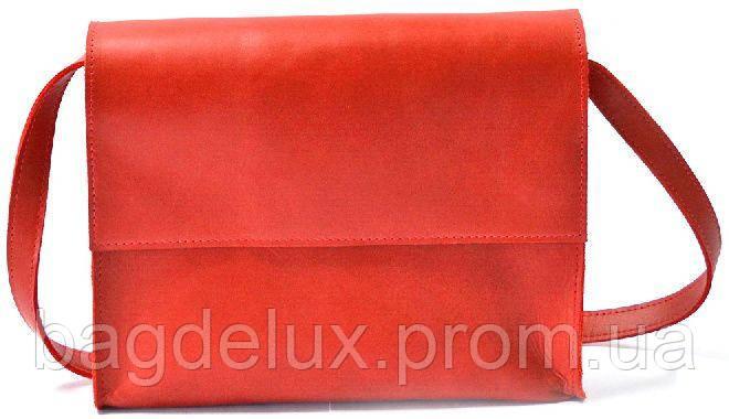 24990a9c711f Яркая, из красной натуральной кожи женская сумка-почтальон через плечо  GBAGS красный B026 красный