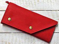 Портмоне из натуральной кожи красного  цвета для горячих девушек GBAGS красный W.0002-ALI красный