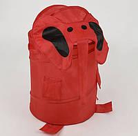 Корзина для игрушек красная Слоник 38х65см