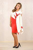 Коралловое платье 065