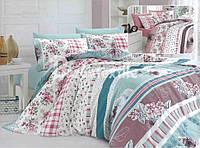 Двуспальный евро комплект постельного белья светлые тона