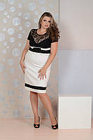 Черно-белое платье 067