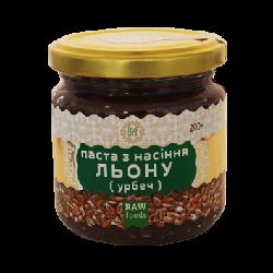 Паста из семян льна (урбеч) 200 г, Ecoliya