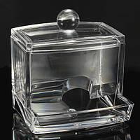 Прозрачный акриловый кристалл хлопка ящик для хранения пробирка с крышкой шаровидных