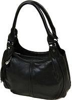 Стильная женская сумка черного цвета с  оригинальным украшением-кисточкой Polianna черный 08-5 557 black