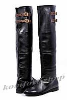 Женские ботфорты кожаные V 690