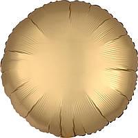 Фольга средняя круг матовый золотой