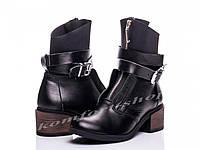 Зимние женские кожаные ботинки   V 1138