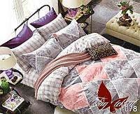 Комплект постельного белья сатин евро TM Tag 078