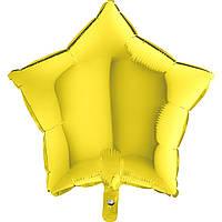 Фольга средняя звезда металлик желтая