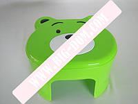 Табурет детский стул детский пластиковый товар для детей ТАВ-0014 Sevilen Медвежон