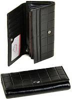 Черный женский кошелек из искусственной  тисненной кожи для девушек, ценящих комфорт  и практичность dr.Bond черный Rose Series-5 WD-3 black