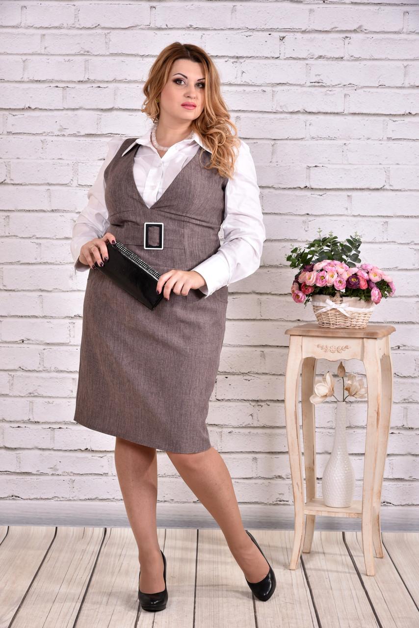 Платье мокко | 0628-3 (блузка 0646 отдельно)