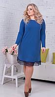 Женское платье ангора кружево низ(46-60) 8147