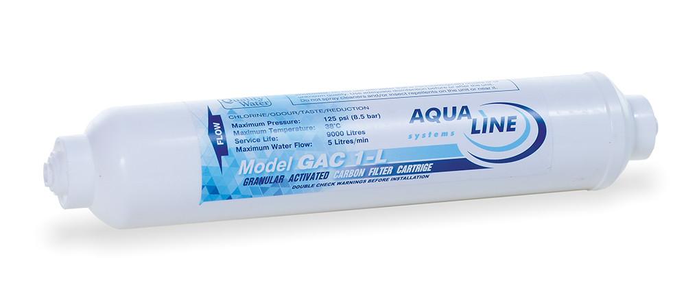 Постфильтр угольный сорбционный Aqualine In-Line GAC-10L-QC