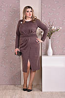 Коричневое платье 0198-1
