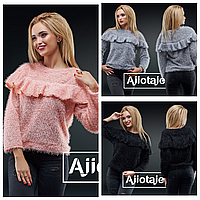 Жіночий светр з воланом 321 ІО, фото 1