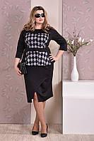 Черный костюм в ромбик 0213-2