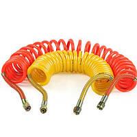 7.5м Пу прицеп трубки тормозной шланг спиральный двойной весенний воздух труба Спираль трахею трубки для тяжелых грузовиков