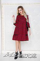 Платье Ткань фланель №371н-красный