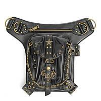 Стимпанк талии ноги кожаная сумка бедра кобура кошелек старинные сумка ремень сумка панк тепловоз