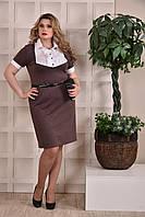 Коричневое платье 0225-3